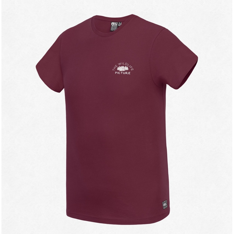 TSHIRT WILDLIFE BURGUNDY